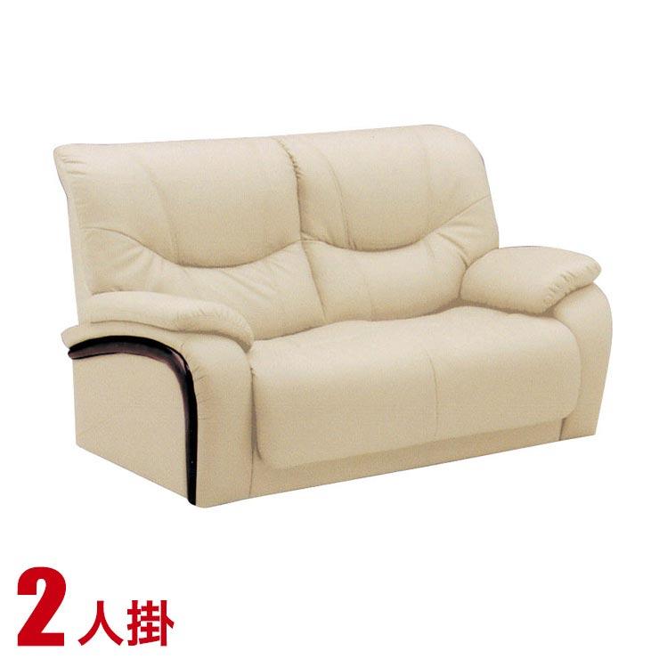 ソファー 2人掛け 合皮 安い ソファ シンプル 落ち着いた雰囲気のハイバックソファ ヒルズII 2P ベージュ2P sofa 完成品 完成品 輸入品 送料無料