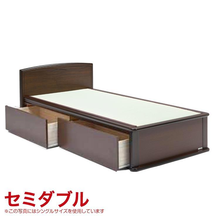 セミダブルベッド フレーム 収納付き 引出し付き 宮無し ベッドフレーム 森の恵みと職人の技が作り出した純国産畳ベッド ナンシー ロングタイプ 完成品 日本製 送料無料