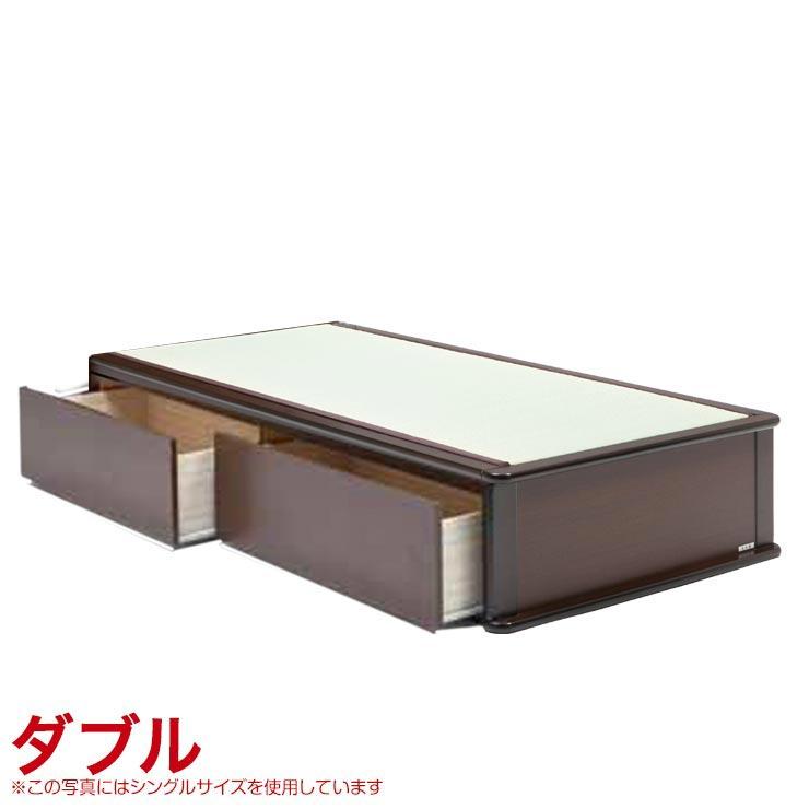ダブルベッド フレーム 収納付き ヘッドレスタイプ ベッドフレーム 森の恵みと職人の技が作り出した純国産畳ベッド ナンシー ダブル 完成品 日本製 送料無料