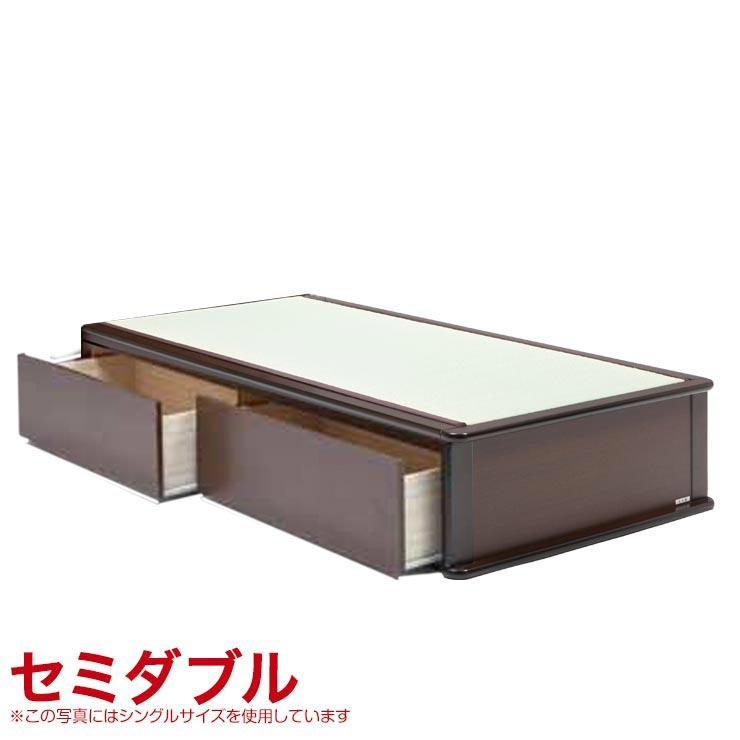 セミダブルベッド フレーム 収納付き ヘッドレスタイプ ベッドフレーム 森の恵みと職人の技が作り出した純国産畳ベッド ナンシー ロングタイプ 完成品 日本製 送料無料