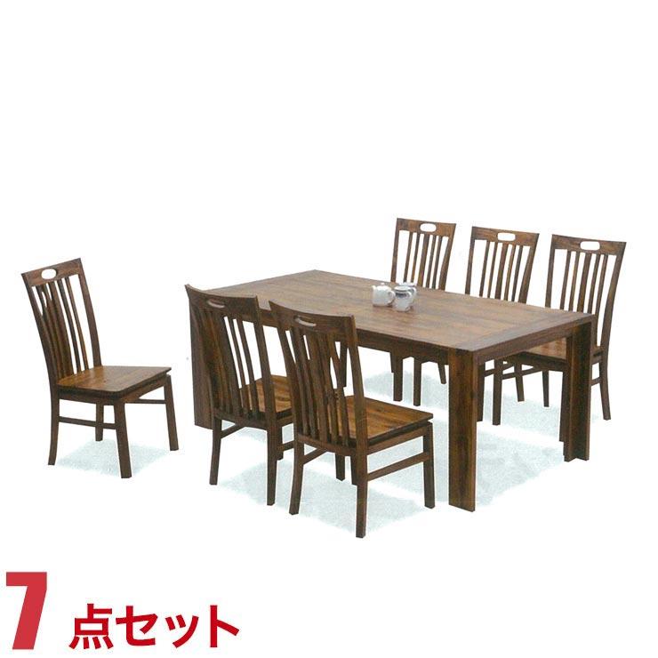 ダイニングテーブルセット 6人掛け アカシアウッド 高級感 カントリー風 テーブル 7点セット テーラー 幅180cmテーブル 椅子6脚 セット 完成品 輸入品 送料無料