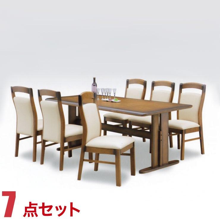 ダイニングテーブルセット 6人掛け グルディア ダイニング 7点セット 幅180cmテーブル 椅子6脚 完成品 完成品 輸入品 送料無料