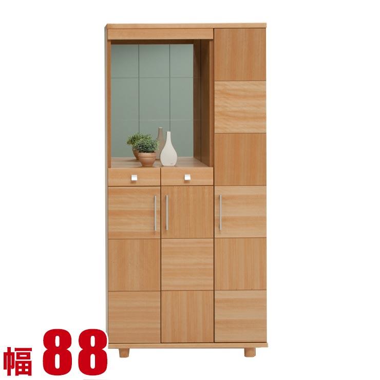 下駄箱 シューズボックス マキシー ナチュラル 幅88cm 完成品 日本製 送料無料