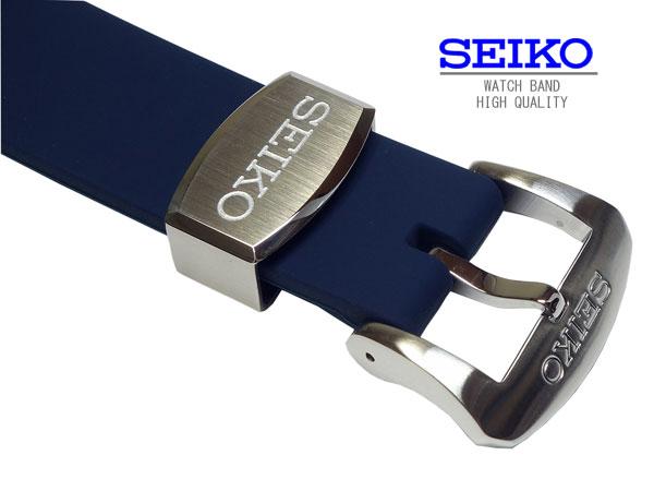 セイコー SEIKO 時計ベルト 20mm   PROSPEX プロスペックス SBDC055 純正シリコンラバーベルト バンドSBDC051SBDC053にも装着可能 ダイバーズウォッチ用 R02C012J0 正規品 ダークブルー