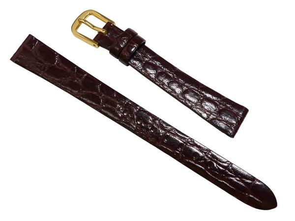 SEIKO の時計バンド 格安にて販売しています 12mm セイコー 時計 ついに再販開始 ベルト ネコポスにて発送 送料無料 バンド 牛革ワニ型押 DAQ2 こげ茶 新作 人気