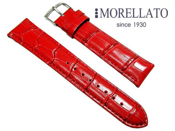 モレラート MORELLATO 腕時計 ベルト  サンバ SAMBA カーフ型押 レッド イージークリック