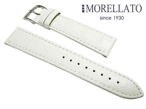 モレラート MORELLATO 時計バンド  ボーレ BOLLE カーフ型押 白 ホワイト