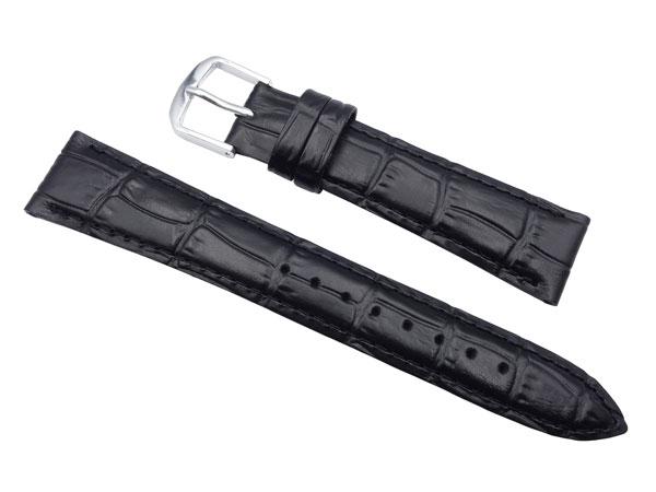 たいへんよく売れてます セイコー の時計バンド ベルト 格安にて販売しています セール特価 19mm 時計バンド DXL7A ネコポスにて発送 牛革ワニ型押 黒 通販 激安◆ 正規品 送料無料