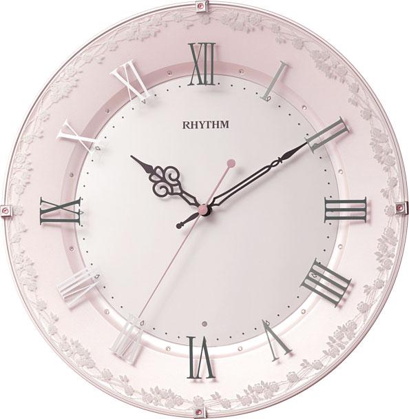リズム時計 8MY538SR13 アラカルト538 電波掛け時計
