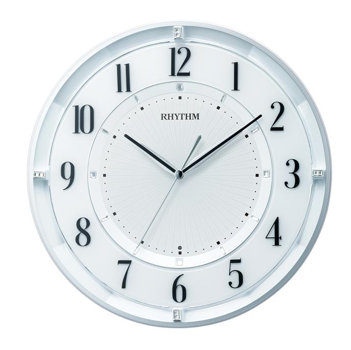 リズム時計 8MY551SR03 フィットウェーブクールM551 電波掛け時計 【送料無料 宅配便にて発送】