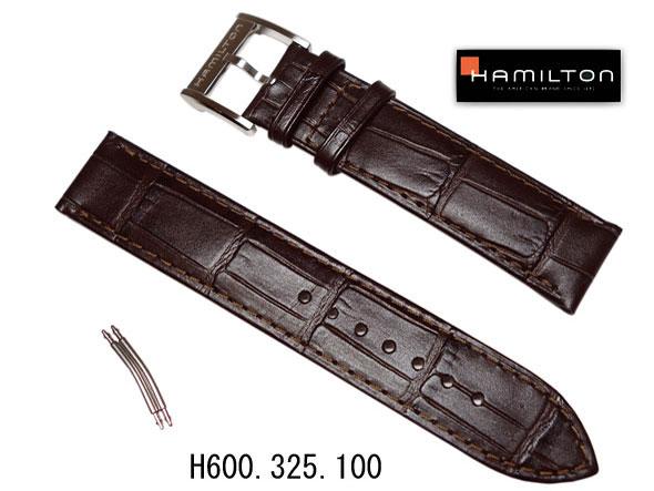 20mm ハミルトン純正 H32515555 カーフ ブラウンベルト ジャズマスタービューマチックオートHAMILTON  ケースナンバー H325150  正規品 H600325100 H600.325.100裏蓋番号 H325150/H325190