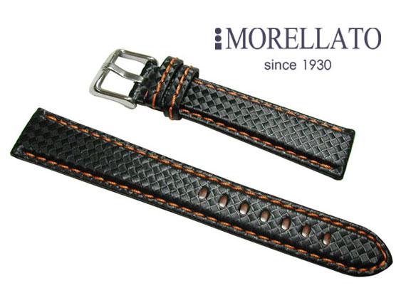 モレラート MORELLATO 時計バンド  バイキング BIKING ラバー カーボン型押 ブラック/オレンジステッチ 02P04Jul15