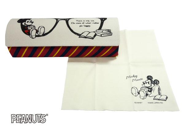 ☆ミッキー☆かわいいメガネケース!!   【代金引換不可】ミッキー メガネケース 眼鏡ケース めがねケース(定型外郵便送料無料)クロス付き