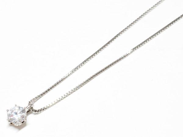 プラチナ ダイヤモンド プチネックレス 【N671】