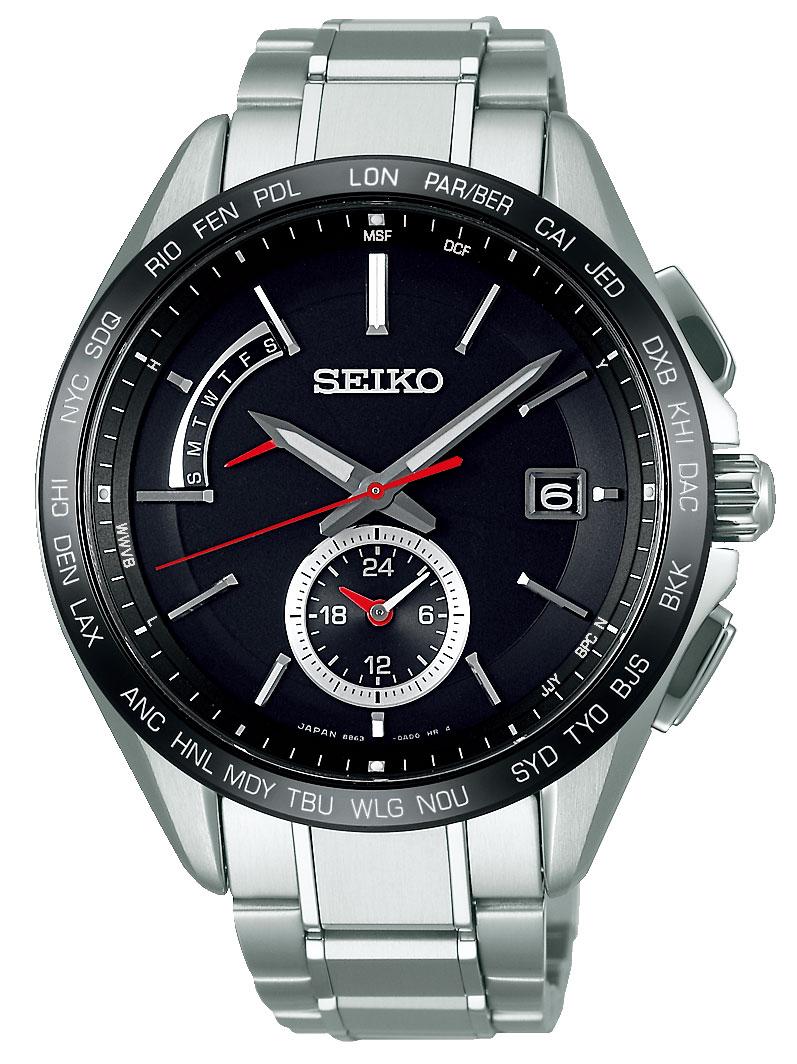 ☆腕時計 メンズ セイコーブライツ SAGA241 ソーラー電波腕時計 ワールドタイム 正規品