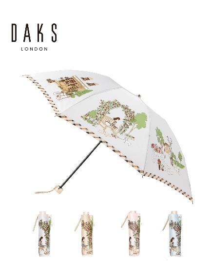 MOONBAT公式オンラインショップ 雨傘 現品 折りたたみ傘 DAKS ダックス 街並み 公式ムーンバット 数量は多 軽量 ギフト レディース グラスファイバー 日本製