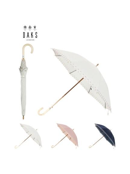 全国一律送料無料 MOONBAT公式オンラインショップ 日傘 長傘 DAKS ダックス ドット ふち刺繍 公式ムーンバット 一級遮光 晴雨兼用 UV ジャンプ式 正規店 日本製 遮熱 スライド式 雨の日OK