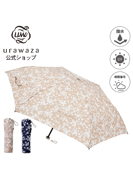MOONBAT公式オンラインショップ 雨傘 折りたたみ傘 urawaza 人気上昇中 ウラワザ 3秒でたためる UV 公式ムーンバット 大放出セール レディース 晴雨兼用 花柄