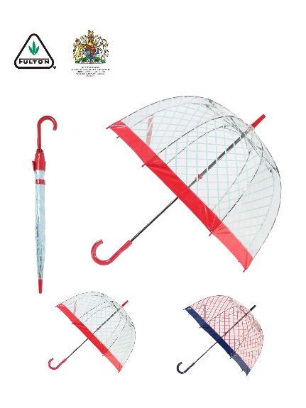 MOONBAT公式オンラインショップ 雨傘 長傘 海外並行輸入正規品 FULTON フルトン ビニールバードケージ Birdcage ギフト インポート レディース 花柄 通常便なら送料無料 公式ムーンバット ビニール