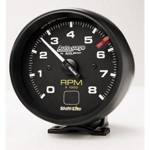 オートゲージ 8000RPM タコメーター 4/ 6/ 8気筒用シフト ライト付