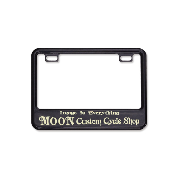 MOONEYES: License plate frame for small motorcycle MOON Custom Cycle ...