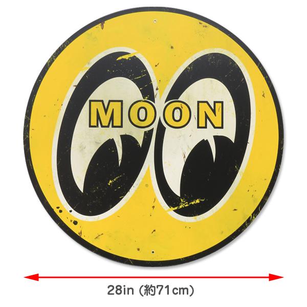 ムーンアイズ MOON(ムーン)スチール サイン ラージ & ディストレスト