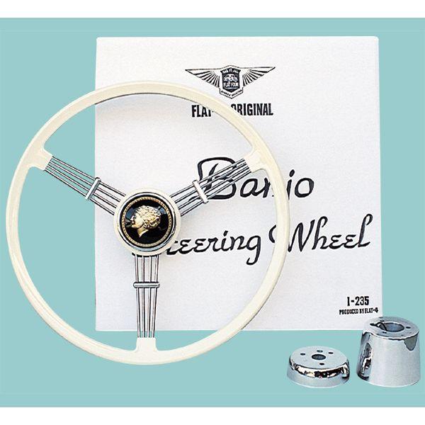 Banjo Steering Wheel(バンジョー ステアリング ホイール)アイボリー 40cm