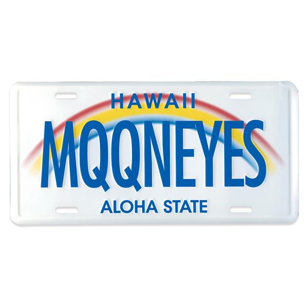 MOONEYES (mooneyes) Hawaii license plate