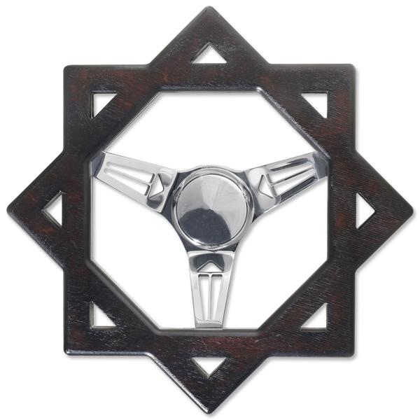 『4年保証』 California Square Wood Steering 日本最大級の品揃え Wheel
