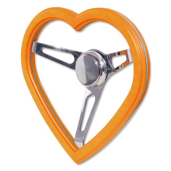 California Heart Wood Steering Wheel