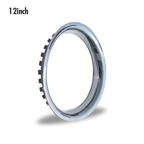 12 inches of stainless steel trim rings