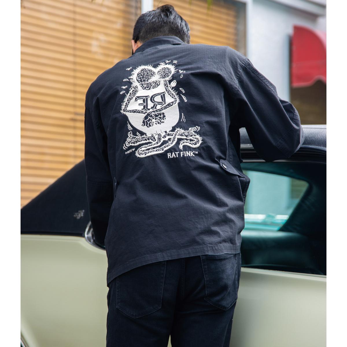 ムーンアイズ ラットフィンク ジャケット 刺繍 BDUジャケット 上着 アウター メンズ レディース 【30%OFF】Rat Fink Embroidery BDU ジャケット