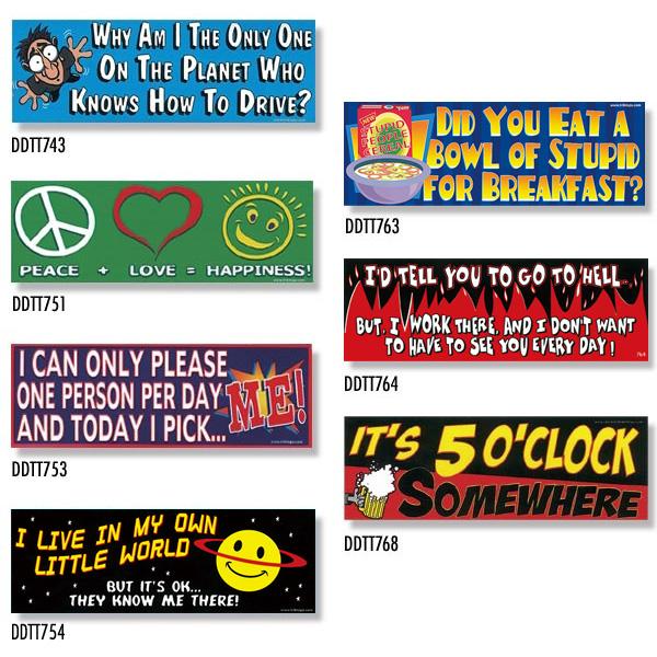 訳あり 数量は多 Bumper Stickers -3 DDTT-3