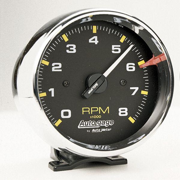 オートゲージ 8000RPM タコメーター 4/ 6/ 8気筒用クローム メッキ