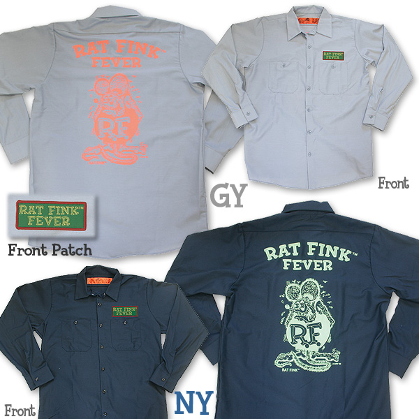 Rat Fink(老鼠芬克)WORK SHIRTS rongusuribu
