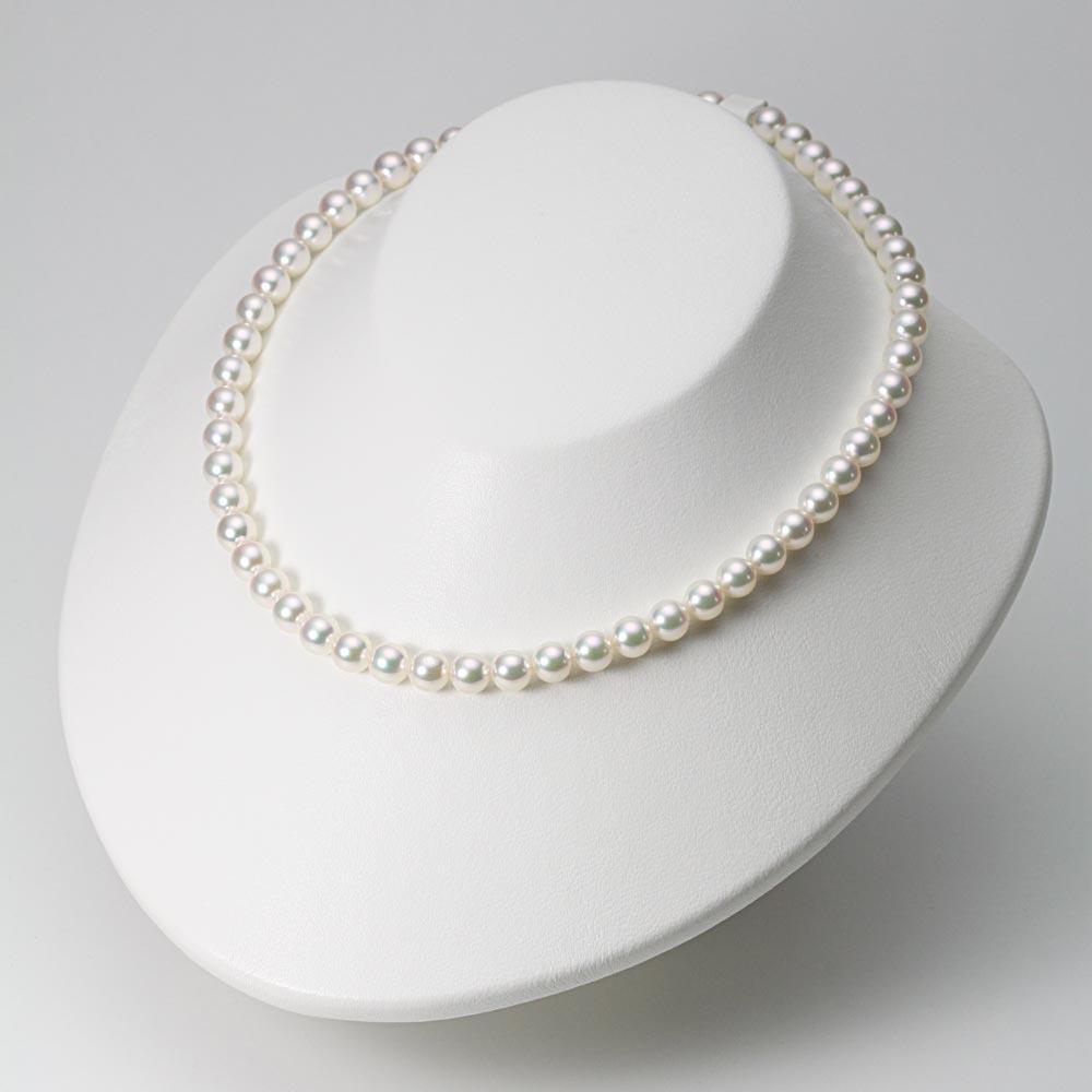 あこや真珠 パール ネックレス 7.0mm アコヤ 真珠 ネックレス & イヤリング セット レディース BRI7075O12WPGY02W0