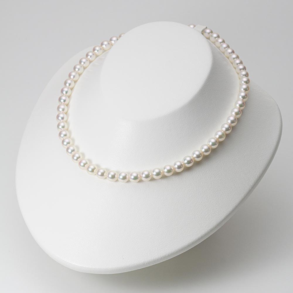 あこや真珠 パール ネックレス 7.0mm アコヤ 真珠 ネックレス & ピアス セット レディース BRI7075O32WPGPA02W