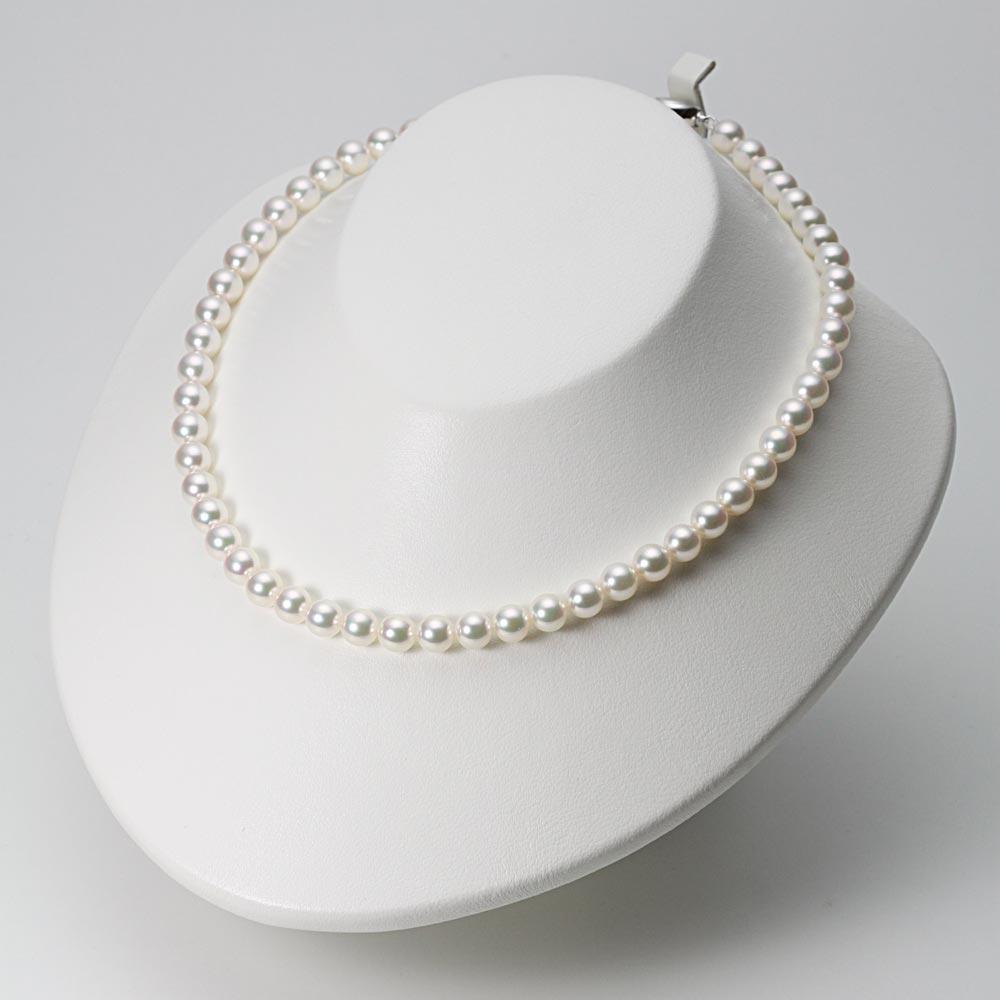 あこや真珠 パール ネックレス 7.0mm アコヤ 真珠 ネックレス & イヤリング セット レディース BRI7075R12WPGY02W0