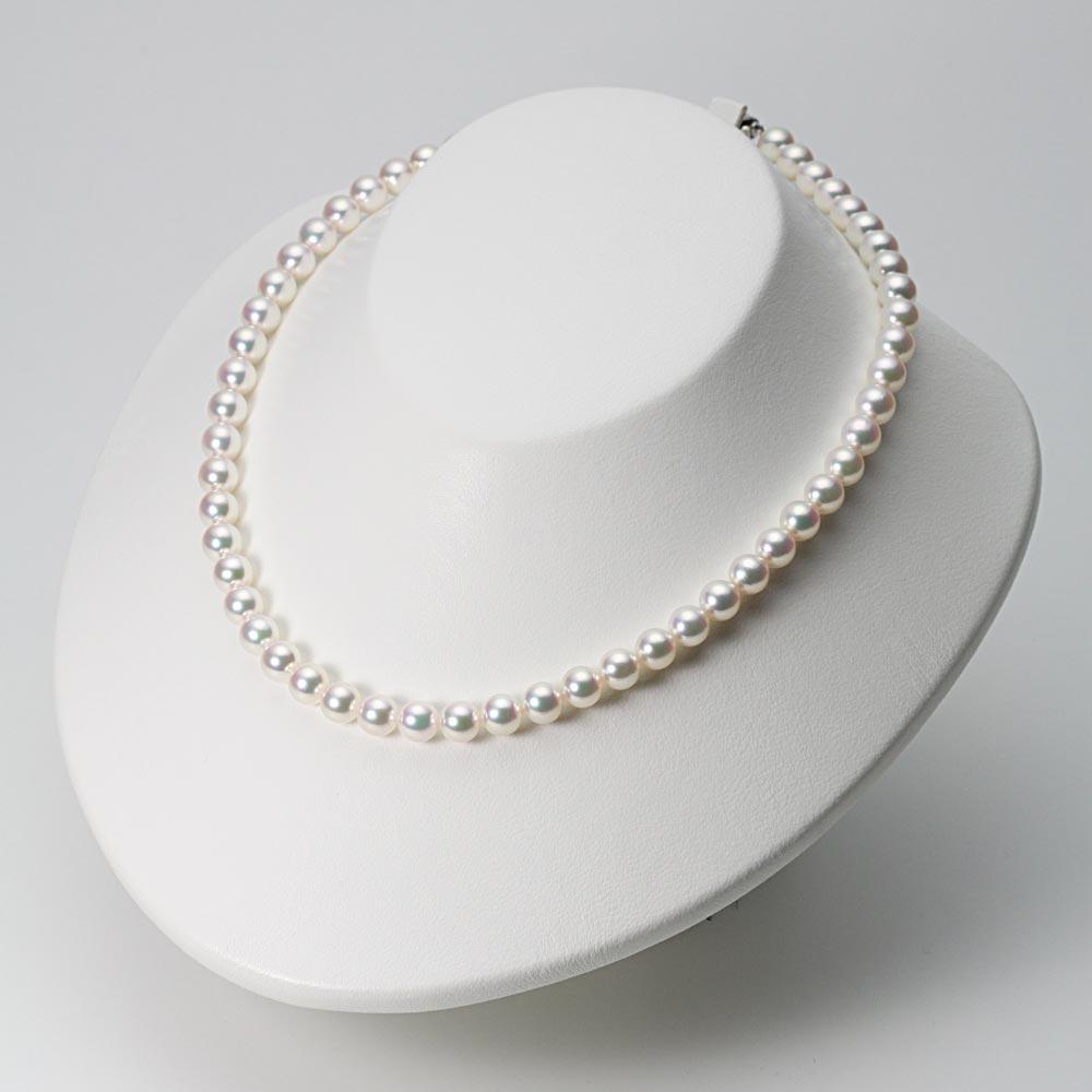 あこや真珠 パール ネックレス 7.0mm アコヤ 真珠 ネックレス & ピアス セット レディース BRI7075R21WPGPA02W