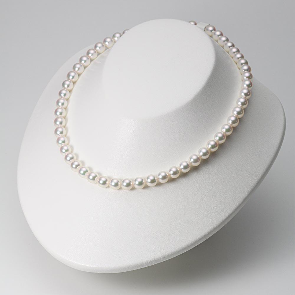 あこや真珠 パール ネックレス 7.5mm アコヤ 真珠 ネックレス & ピアス セット レディース BRI7580O12WPGPA02W