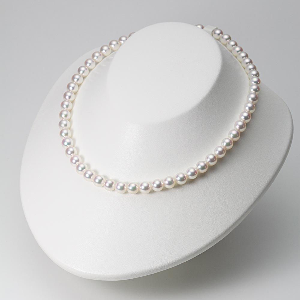 あこや真珠 パール ネックレス 7.5mm アコヤ 真珠 ネックレス & ピアス セット レディース BRI7580O31WPGPA02W
