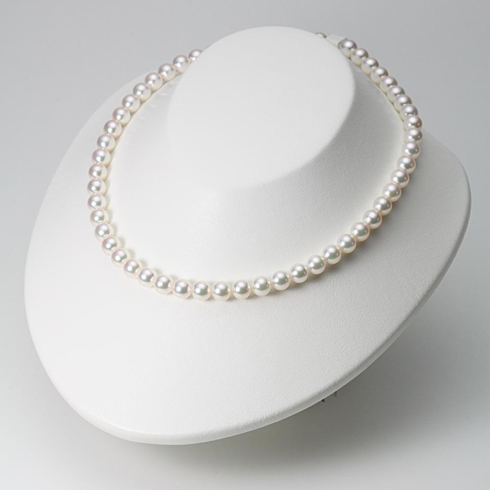 あこや真珠 パール ネックレス 7.5mm アコヤ 真珠 ネックレス & ピアス セット レディース BRI7580R12WPGPA02W