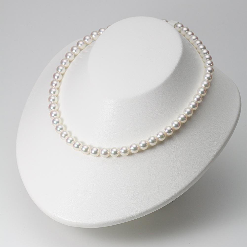 あこや真珠 パール ネックレス 7.5mm アコヤ 真珠 ネックレス & ピアス セット レディース BRI7580R21WPGPA02W
