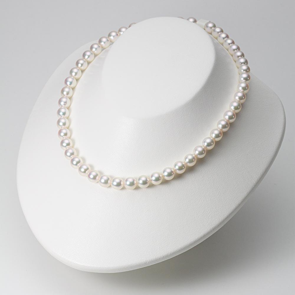 あこや真珠 パール ネックレス 8.0mm アコヤ 真珠 ネックレス & イヤリング セット レディース BRI8085O32WPGY02W0