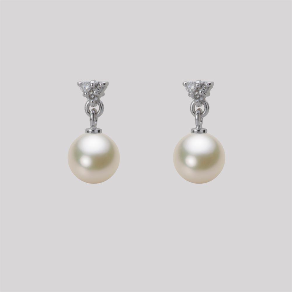 あこや真珠 パール ピアス 6.0mm アコヤ 真珠 ピアス K18WG ホワイトゴールド レディース HA00060R13CG0617W0