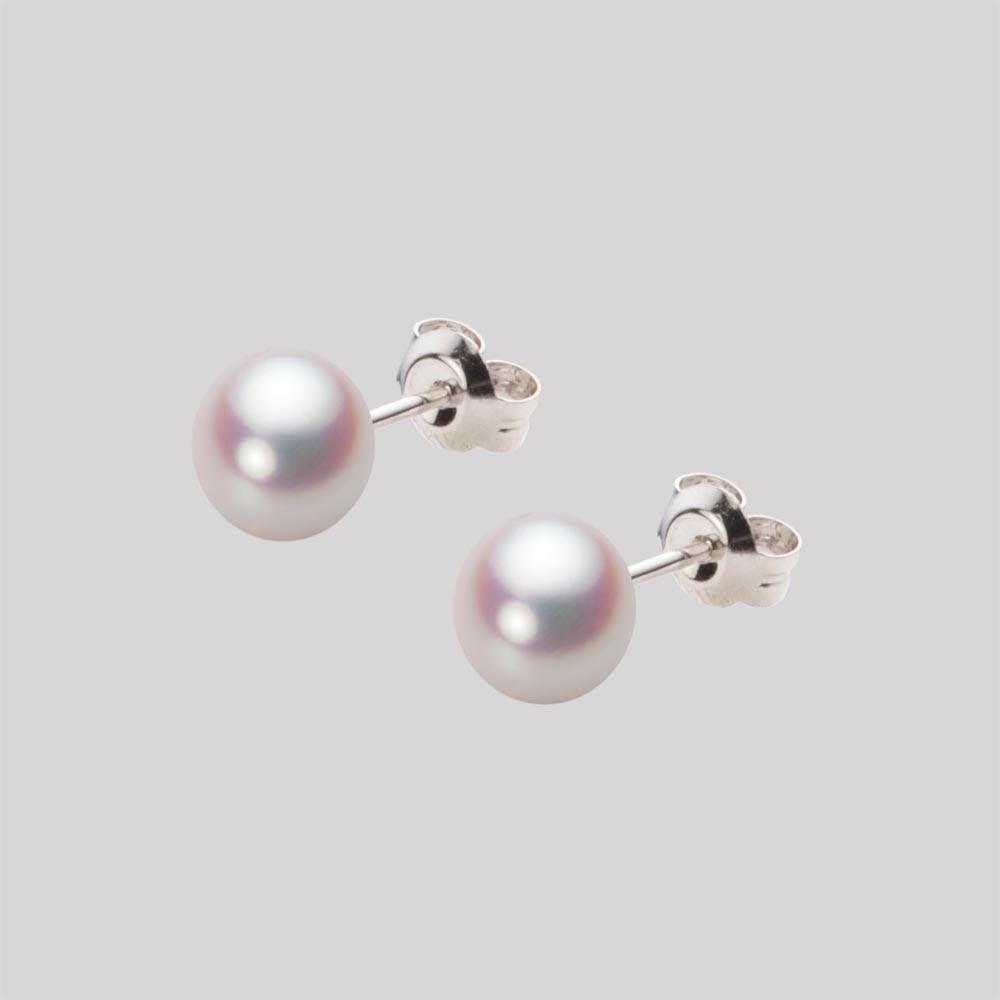 あこや真珠 パール ピアス 6.0mm アコヤ 真珠 ピアス Pt900 プラチナ レディース HA00060B11WPNPA04P