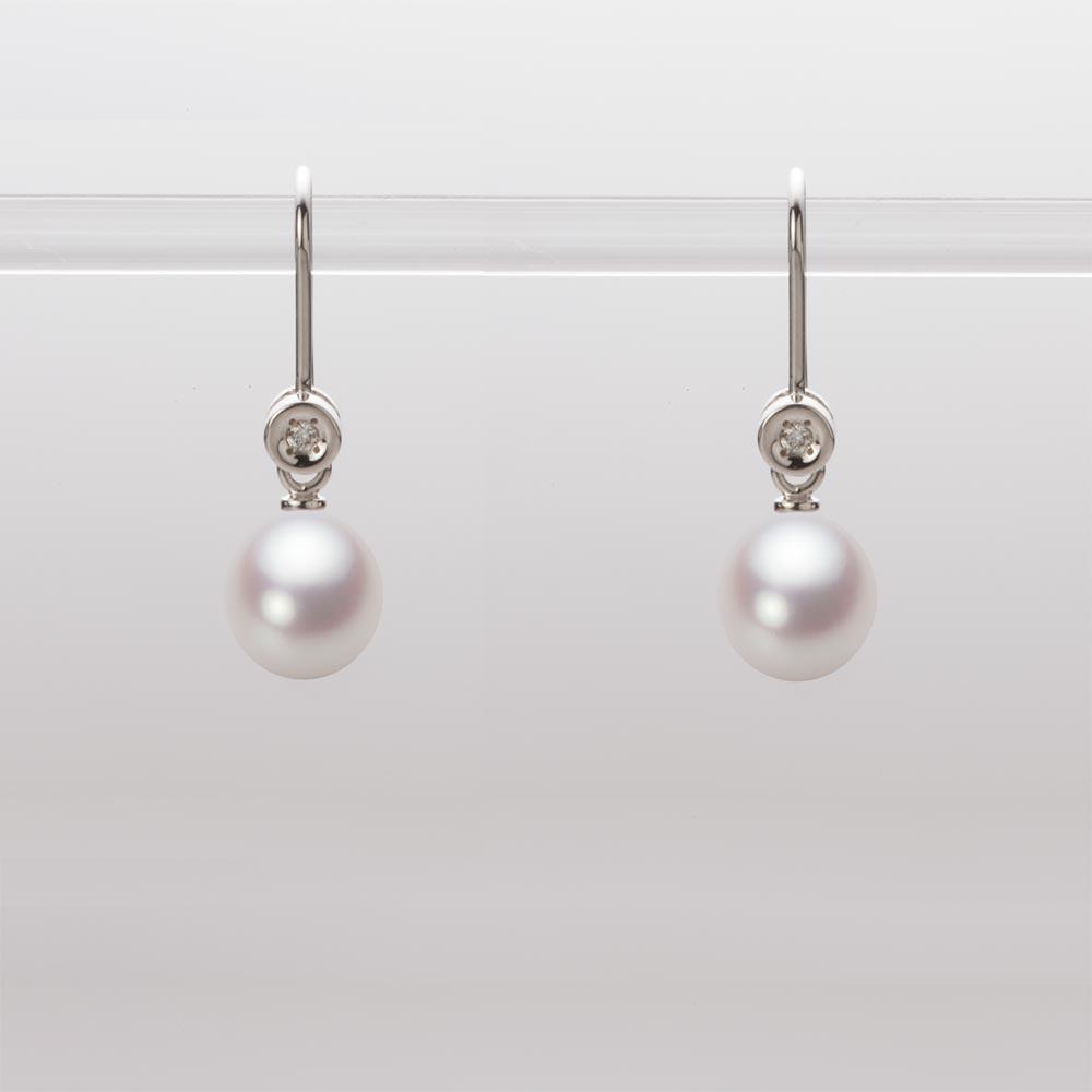 あこや真珠 パール ピアス 6.5mm アコヤ 真珠 ピアス K18WG ホワイトゴールド レディース HA00065D13WPN885W0