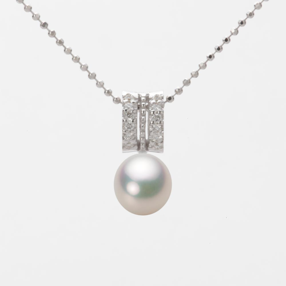あこや真珠 パール ペンダント トップ 7.0mm アコヤ 真珠 ペンダント トップ K18WG ホワイトゴールド レディース HA00070D11CW01278W-T