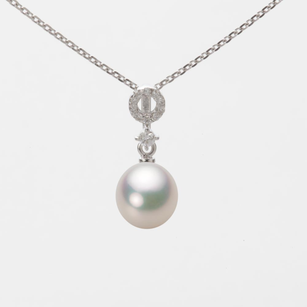 あこや真珠 パール ペンダント トップ 7.0mm アコヤ 真珠 ペンダント トップ K18WG ホワイトゴールド レディース HA00070D11CW01474W-T