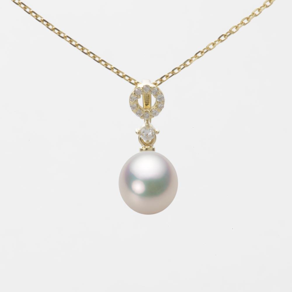 あこや真珠 パール ネックレス 7.0mm アコヤ 真珠 ペンダント K18 イエローゴールド レディース HA00070D11CW01474Y